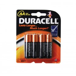 Duracell Plus MN1500 AA 1.5v Batteries - Pack of 4
