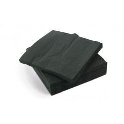 Black 23x23cm 2ply Cocktail Napkins - Case of 2400