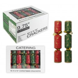 Red and Green Holly Catering Christmas Crackers