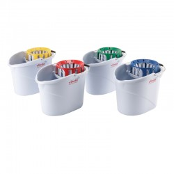 Vileda Professional Supermop Bucket and Wringer - Colour Coded