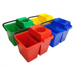 SYR Freedom Double Dolly 10Ltr Mop Bucket - Colour Coded