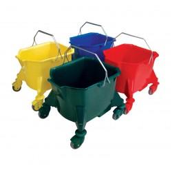 23ltr Plastic Kentucky Mop Bucket - Colour Coded
