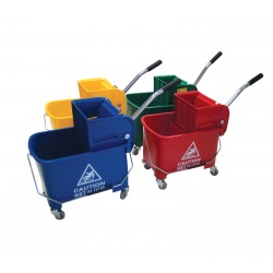 Microspeedy 20ltr Bucket and Gear Operated Wringer - Colour Coded