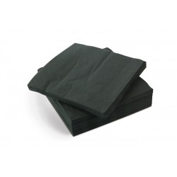 23x23cm 2ply Cocktail Napkins - Case of 2400 - Black
