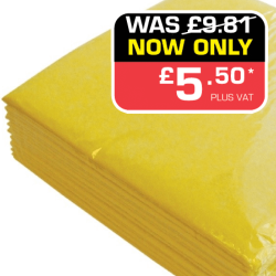 Yellow Quarter Folded Needlefelt Wiping Cloths - Pack of 10 (Yellow)