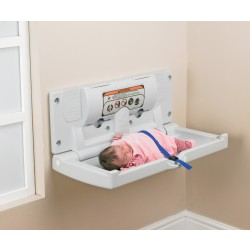 Horizontal Wall Mounted Baby Changing Unit