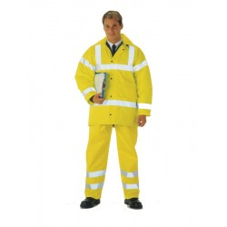 Yellow EN471 Hi-Visibility Waterproof Overtrousers