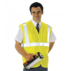 Yellow EN471 Hi Visibility Waistcoat - Available in Sizes Medium - XXXX-Large