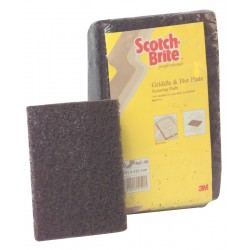 3M Scotch Brite 46 Griddle and Hot Plate Cleaning Pads - Pack of 10