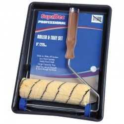 """24cm (9"""") Synthetic Paint Roller and Paint Tray"""
