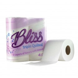 Bliss 3ply Quilted Quality Toilet Rolls