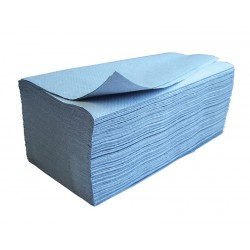 Education 1ply Blue Interleaved Paper Hand Towels - Case of 3600