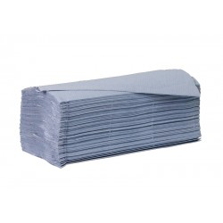 Saver 1ply Blue Interleaved Paper Hand Towels - Case of 5000