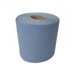 125m 18.5cm Economy 2ply Blue Centre Pull Rolls - 6 per Case