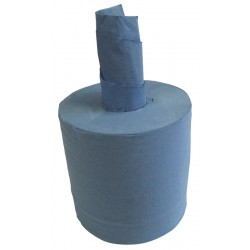 Embossed 150m 19cm 2ply Blue Centre Feed Rolls 6 Rolls per Case