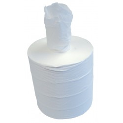 300m 19.5cm 1ply White Centre Pull Rolls - Case of 6