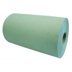 "20cm (8"") 1ply 76m Green Paper Rolls - 16 per Case"