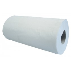 "25cm (10"") 2ply 50m (125 sheet) White Hygiene Roll - 18 per Case"