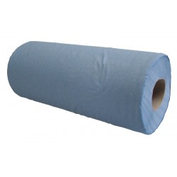 "25cm (10"") 2ply 40m (100 sheet) Blue Hygiene Rolls - Case of 24"