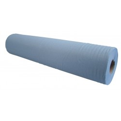 "50cm (20"") 2Ply 40m (100 sheet) Blue Hygiene Rolls - Case of 12"