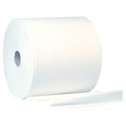 400m 28cm White 2ply 1000 Sheet Wiper Roll - 2 per Case