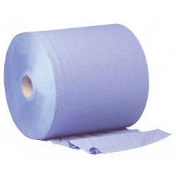 400m 28cm Blue 2ply 1000 Sheet Wiper Roll - 2 per Case