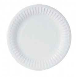 "22cm (9"") 1 Star Disposable Uncoated Paper Plates - 1000 per Case"