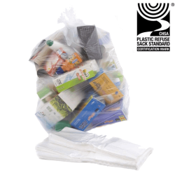 "90ltr Clear Refuse Sacks 457x737x991mm (18x29x39"") - Case of 200"