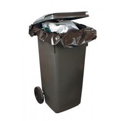"Black Wheelie Bin Refuse Sacks 584x1118x1320mm (23x44x52"") - Box of 100"