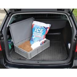 Vehicle Rock Salt Kit - Containing 28ltr Heavy Duty Plastic Container, 25kg Coarse Brown Rock Salt & 1ltr Plastic Scoop