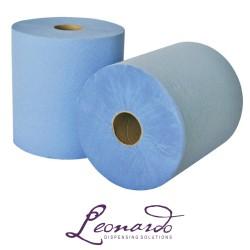 RTB175M 175m 2 Ply Blue Leonardo Roll Towel - 6 Rolls per Case