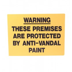 Rigid Anti Vandal Climb Paint Warning Sign