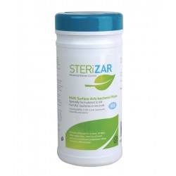 Sterizar Alcohol Free Hard Surface Sanitiser Cleaner Wipes - Tub of 200