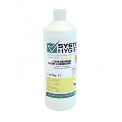 System Hygiene Lemon Washroom Cleaner and Disinfectant RTU - 1ltr