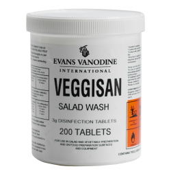 Evans Veggisan Salad Wash Disinfection Tablets