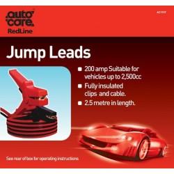 Autocare 2.5m 200amp Jump Leads