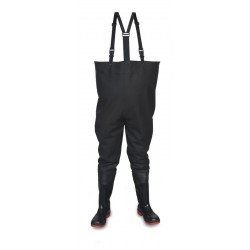 Vital River Outsize Black Safety PVC/ Nitrile Chest Wader - Available In Sizes 14-15