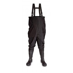 Vital Thames Black Safety PVC/ Nitrile Chest Wader - Available In Sizes 6-12