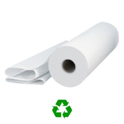 "50cm (20"") 2ply 50m (125 sheet) White Hygiene Roll - 9 per Case"
