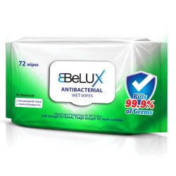 Belux Antibacterial Wet Wipes (Single Pack of 72 Wipes)