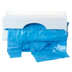 White Plastic Polythene Apron Roll Dispenser