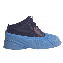 Blue Polythene Disposable Overshoes - 1000 per Case