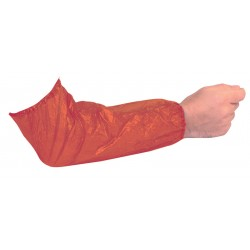 Red Polythene Oversleeves - 1000 per Case