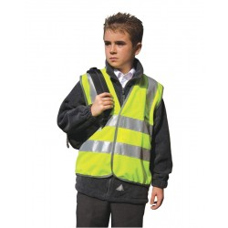 Yellow Hi Visibility Children's Waistcoat - Available in Ages 4 - 12