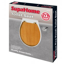 SupaHome Antique Pine Wooden Toilet Seat