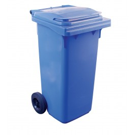 120ltr Blue Two Wheel Wheelie Bin