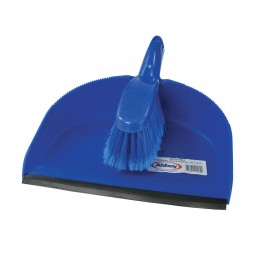 Plastic Dustan And Brush Set Blue