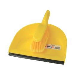 Plastic Dustan And Brush Set Yellow