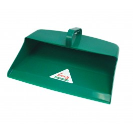 Large Plastic Open Mouth Dustpan Green