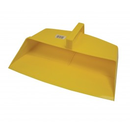 Large Plastic Open Mouth Dustpan Yellow